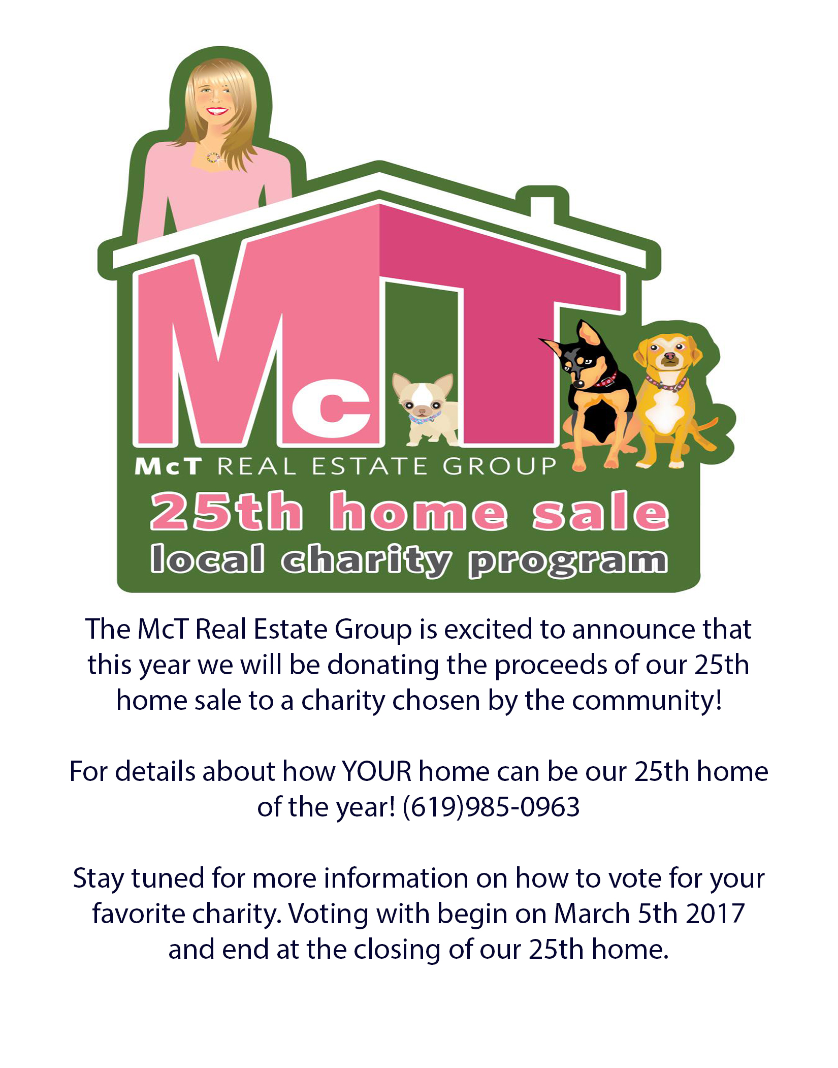25th Home Sale Charity Donation Program